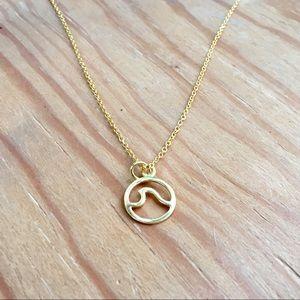 Gold Pura Vida Wave Necklace
